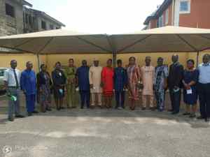 Ogun Sate cabinet in a group photograph  dapo abiodun - IMG 20210719 WA0018 300x225 - 2nd Yr Anniversary: Ogun Cabinet Members Put Smile On Faces Of Hospital Patients