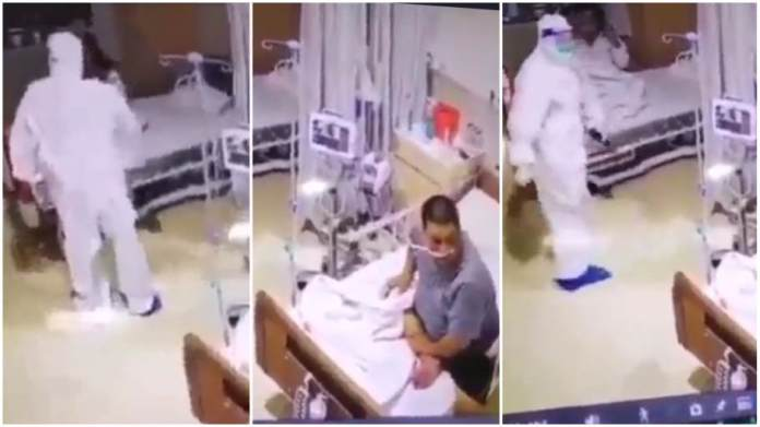 hilarious moment! patient runs for cover after seeing hospital staff in ppe kit - Hilarious moment Patient runs for cover after seeing hospital staff in PPE kit - Hilarious moment! Patient runs for cover after seeing hospital staff in PPE kit