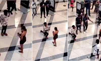 proposing gone wrong: lady embarrasses boyfriend in public  - Proposing gone wrong Lady embarrasses boyfriend in public - Proposing gone wrong: Lady embarrasses boyfriend in public