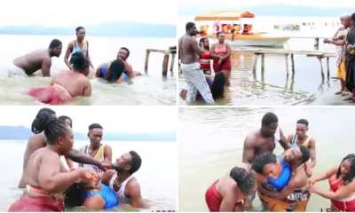 this video shows a couple who got stuck in lake bosomtwe while doing the unthinkable [watch now] - full video of couple who got stuck while doing the unthinkable in lake bosomtwe dr - This video shows a couple who got stuck in Lake Bosomtwe while doing the unthinkable [watch now]