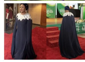 - Screenshot 20211004 100054 1 300x218 - Check Out Photos Of Nigeria's First Lady Slaying In Stunning Ensembles