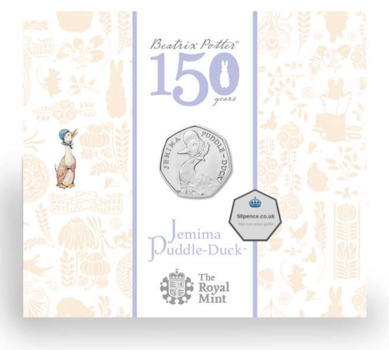 jemima puddle-duck 50p BU Coin Pack