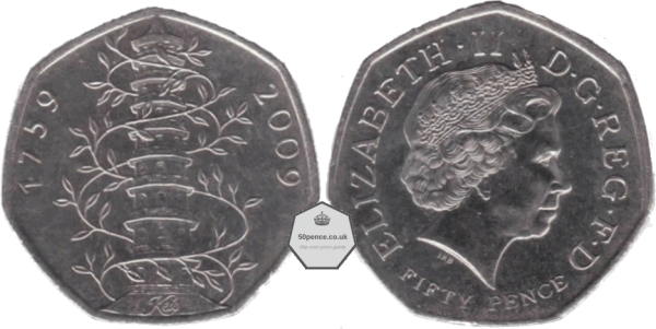 kew gardens 50p circulated