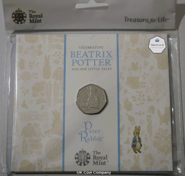 2018 Peter Rabbit 50p BU Coin Pack