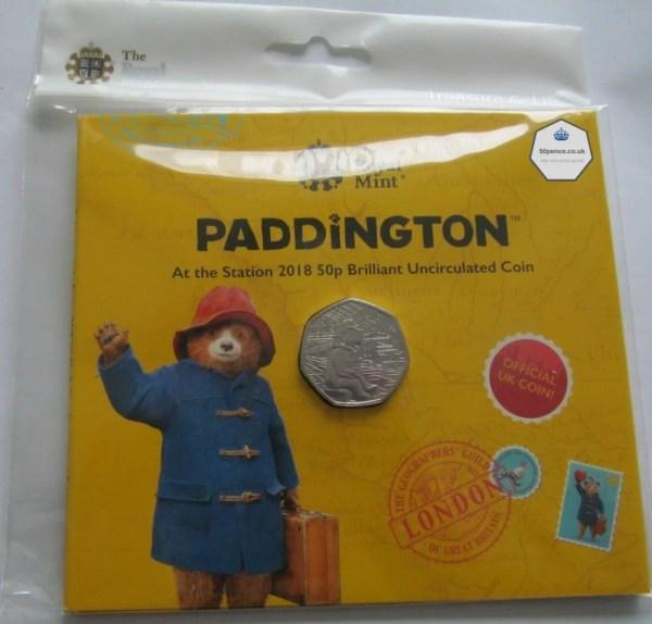 Paddington at the Station 50p BU Coin Pack