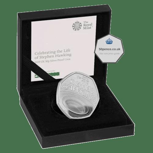 stephen hawking 50p silver proof