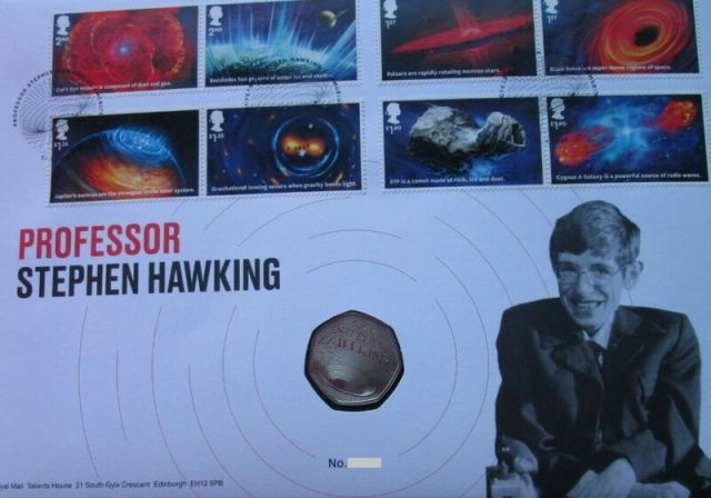 Stephen Hawking 50p PNC
