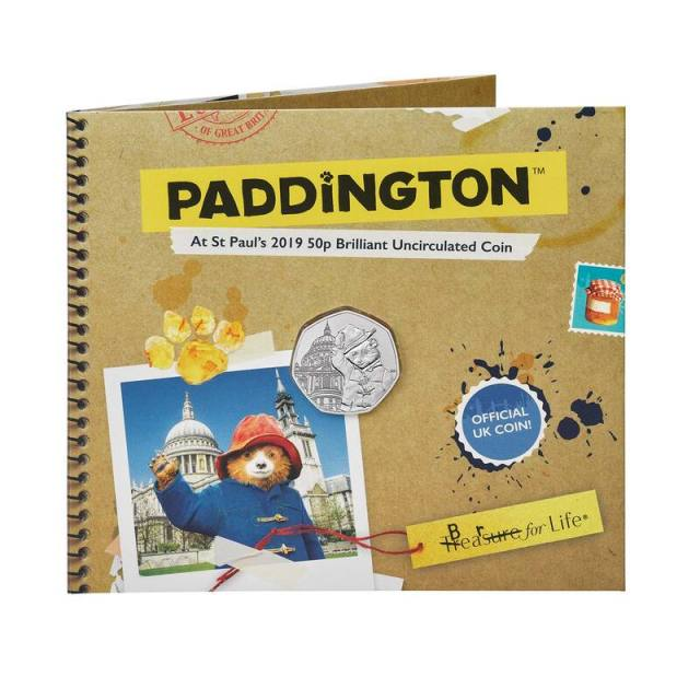 Paddington at St.Paul's Cathedral 50p coin pack 2019