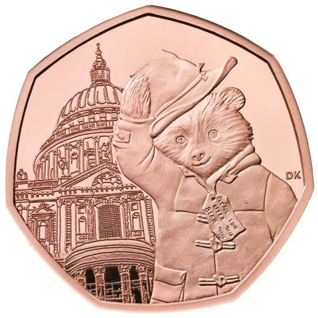 Paddington at St.Paul's 50p Gold Coin