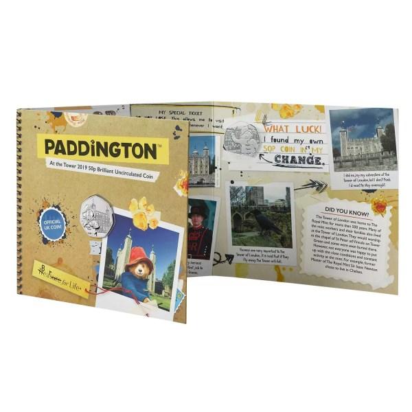 Paddington at the tower 50p coin pack