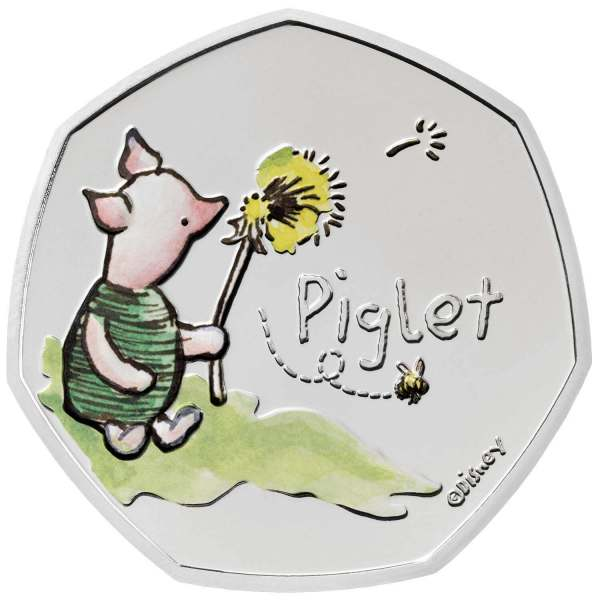 Piglet 50p Coin