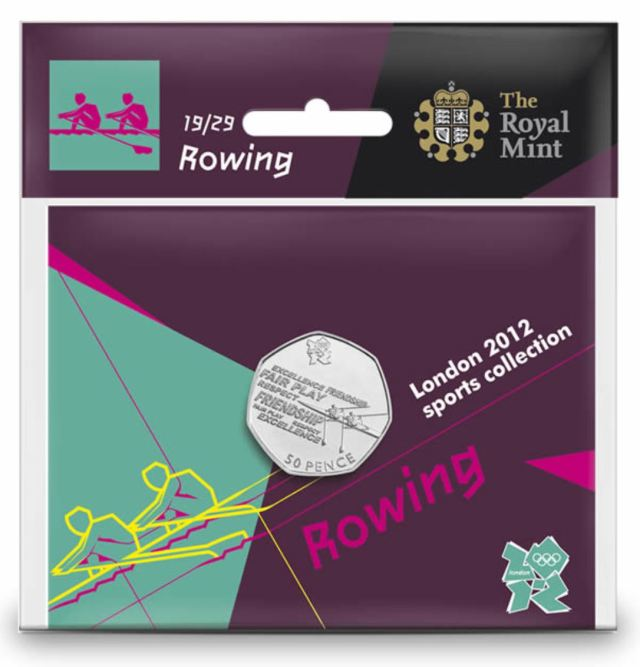 Rowing 50p coin pack