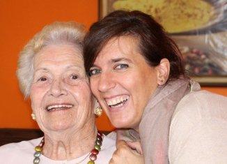 healthy and happy senior, family caregiver