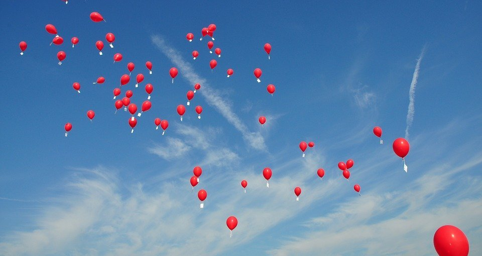 balloons, letting go, declutter