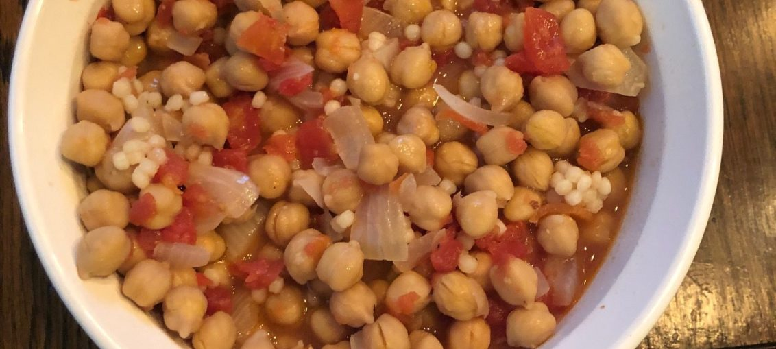 chickpea ragout with couscous