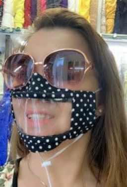 transparent facemask