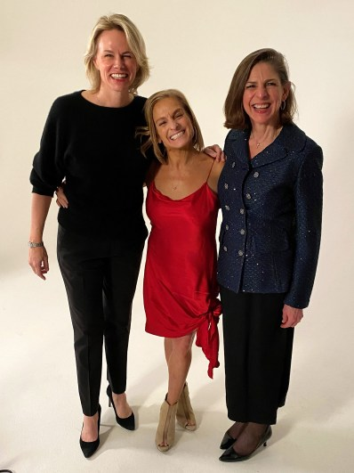 Molly Fletcher, Mary Lou Retton and Diane Paddison (Founder of 4Word) at the Gala