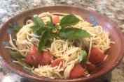 lemon cappelini salad