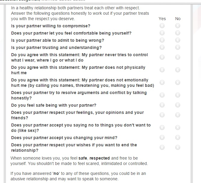 abusive relationship test