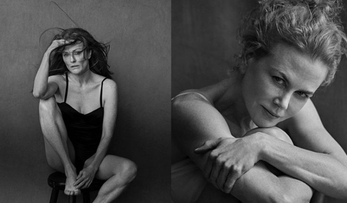 Pirelli calendar features stars railing against ageing and perfection