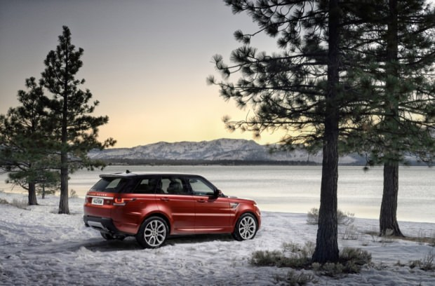 New Range Rover Sport snow