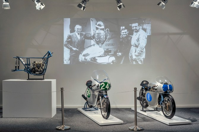 Ducati display at Hailwood exhibition