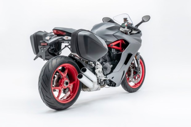 Ducati Supersport rear with panniers
