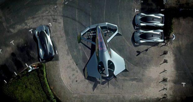 Aston Martin Volante Vision Concept from above
