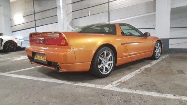 Honda NSX rear parked