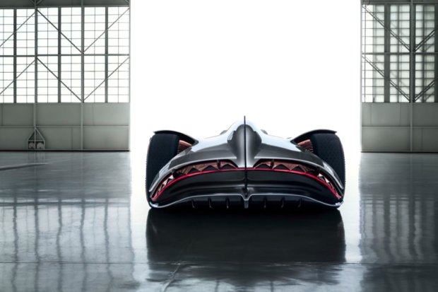 Mercedes-Benz Vision EQ Silver Arrow back end