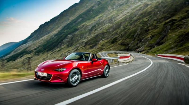Mazda MX-5 driving