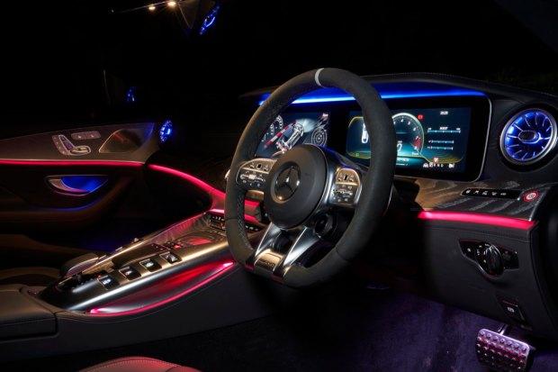 Mercedes-AMG GT four-door steering wheel
