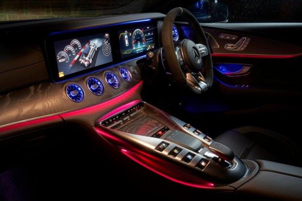 Mercedes-AMG GT four-door centre console