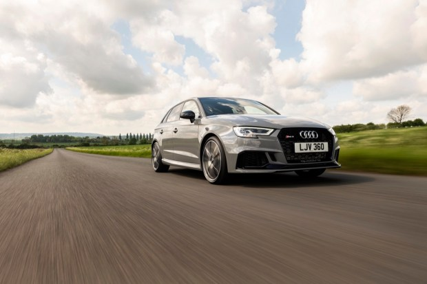 Audi RS 3 driving