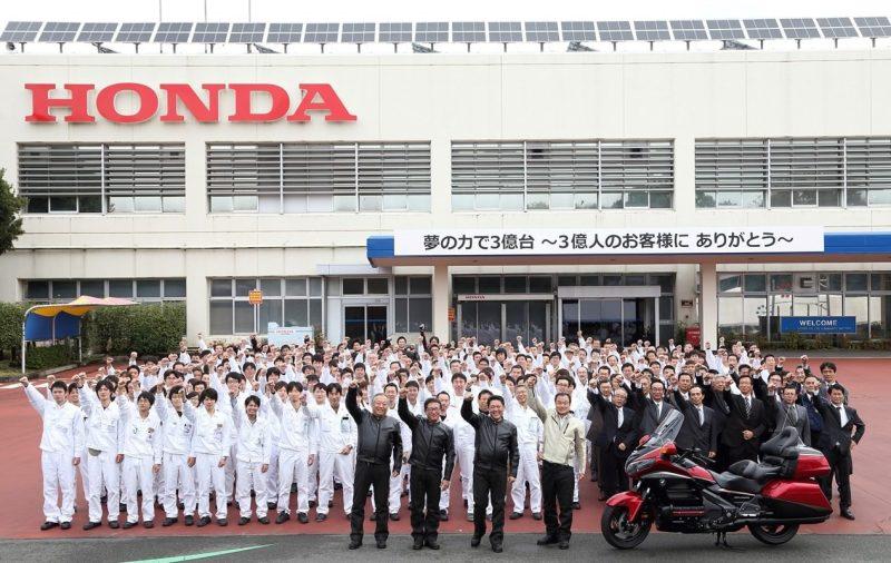 Honda production celebration