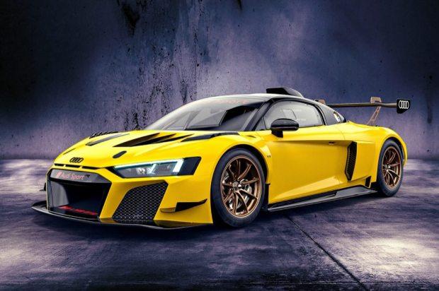 Audi R8 LMS GT2 Vegas yellow