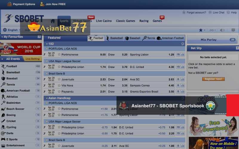 Asianbet77 - Bandar Judi Online Taruhan SBOBET Sportsbook
