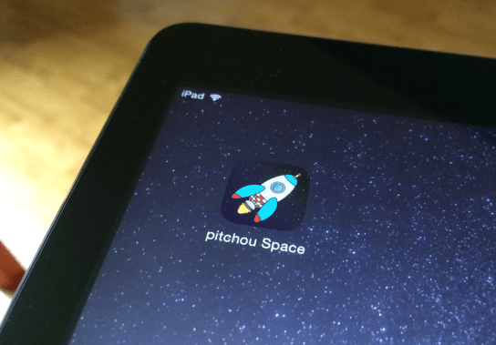 "Coming soon to the App Store ""pitchou Space : drawing and painting in space !"""