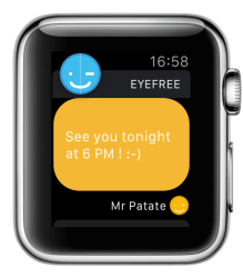 Support image Apple Watch 5 - eyeFree