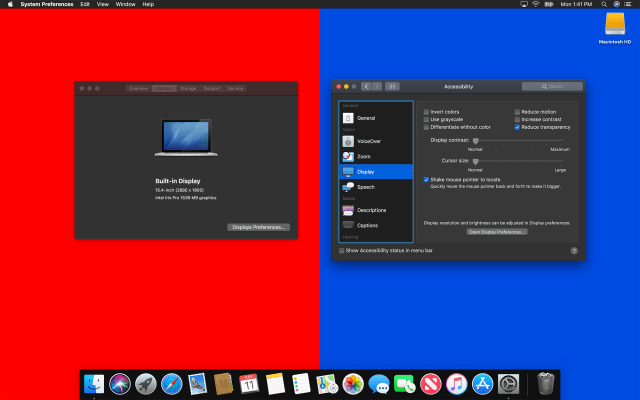 Reduce Transparency in Mojave