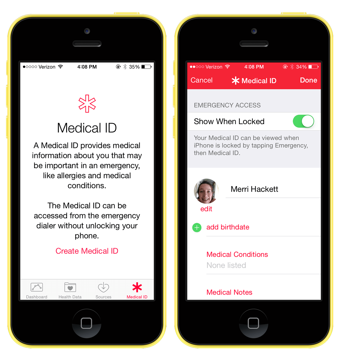 Medical ID in iOS 8