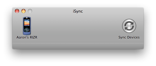 iSync 3 in Mac OS X 10.5 Leopard