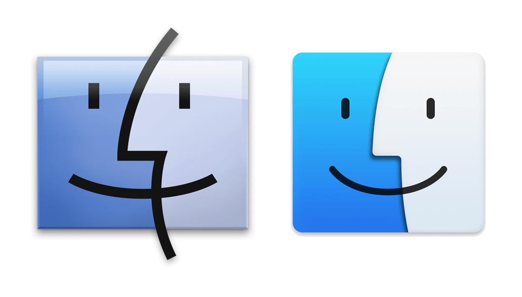 Go home, Finder icon.