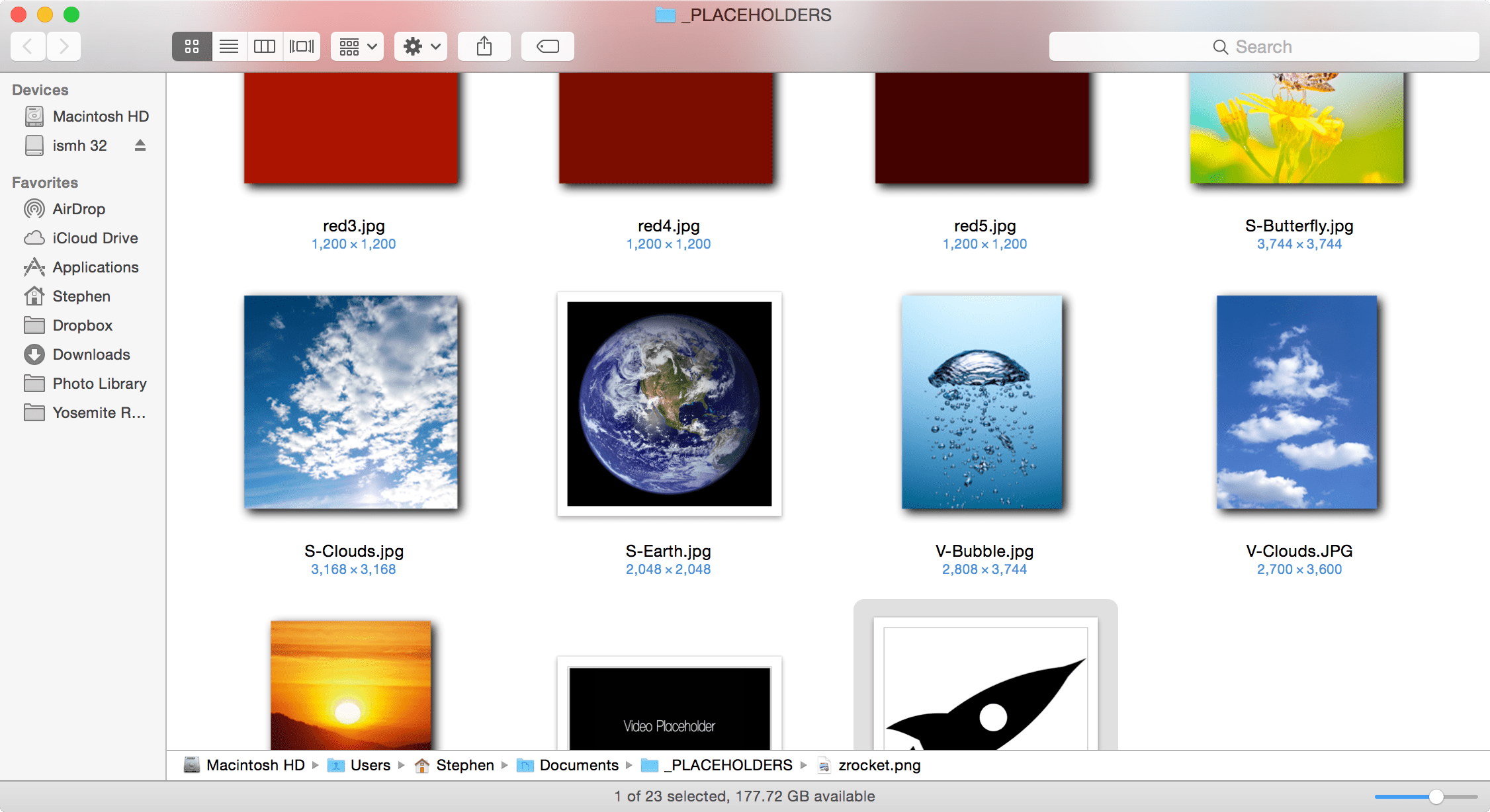 The Finder title bar picks up the tint of the content within the window