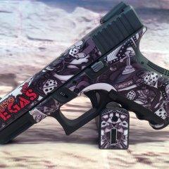 Glock 19 Gen 3 Custom Gun Wrap High Caliber Graphix