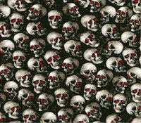 Skulls with Red Eyes