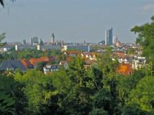 Aussicht nach Norden, Skyline LE (Leipzig)