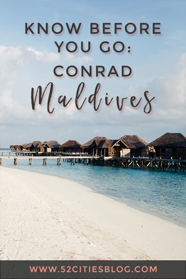 Know before you go: Conrad Maldives