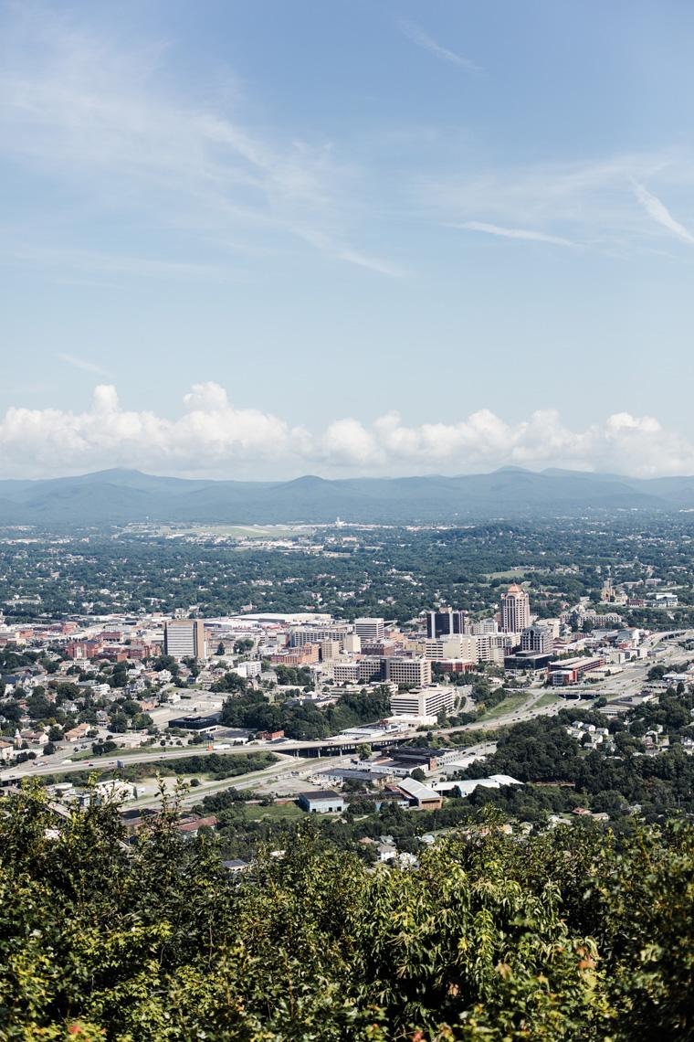 Roanoke, Virginia from above