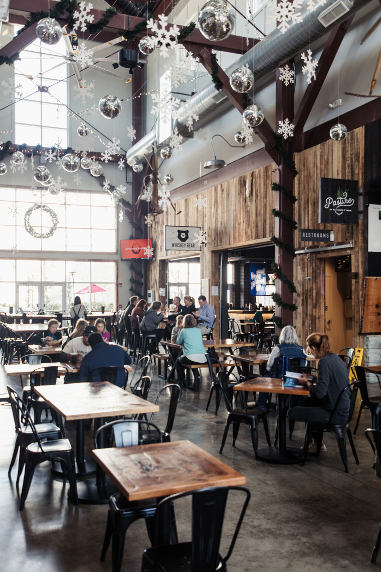 The Barn food hall interior